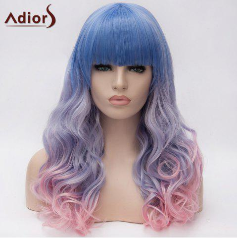 Buy Adiors Long Full Bang Colormix Shaggy Wavy Synthetic Wig COLORMIX