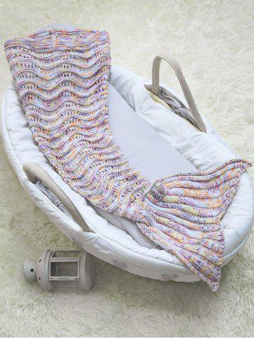 Trendy Wave Striped Baby Mermaid Knitted Blankets Personalized