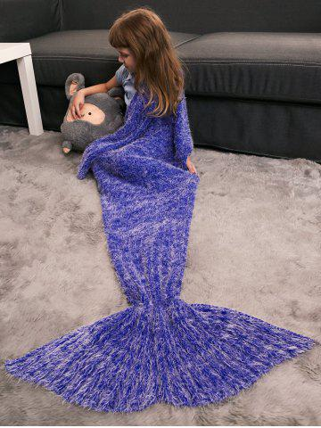 Best Kids' Crochet Knitted Faux Mohair Mermaid Blanket Throw
