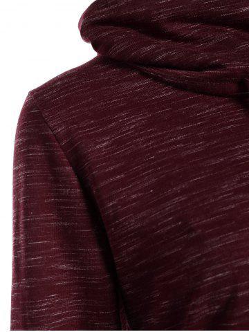 New Front Pocket Cowl Neck Sweatshirt - S WINE RED Mobile