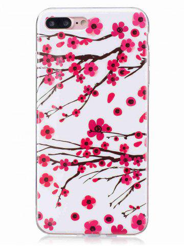 Best Soft TPU Plum Blossom Luminous Back Case For iPhone - FOR IPHONE 6 / 6S RED Mobile