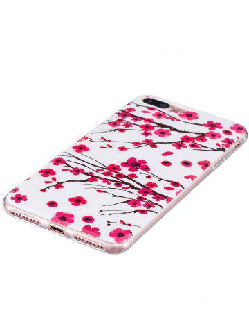 Cheap Soft TPU Plum Blossom Luminous Back Case For iPhone - FOR IPHONE 6 / 6S RED Mobile