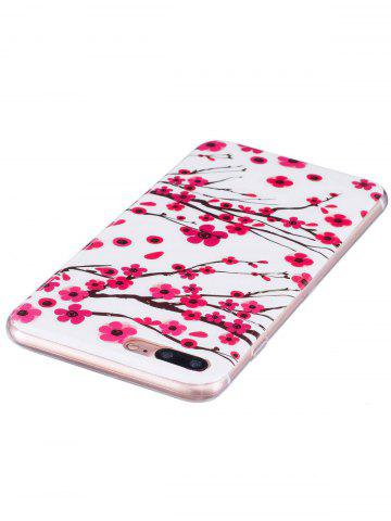 Outfits Soft TPU Plum Blossom Luminous Back Case For iPhone - FOR IPHONE 6 / 6S RED Mobile