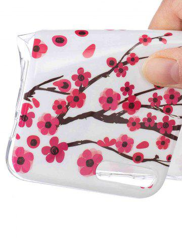 Fancy Soft TPU Plum Blossom Luminous Back Case For iPhone - FOR IPHONE 6 / 6S RED Mobile