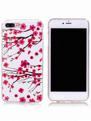 Hot Soft TPU Plum Blossom Luminous Back Case For iPhone - FOR IPHONE 6 / 6S RED Mobile