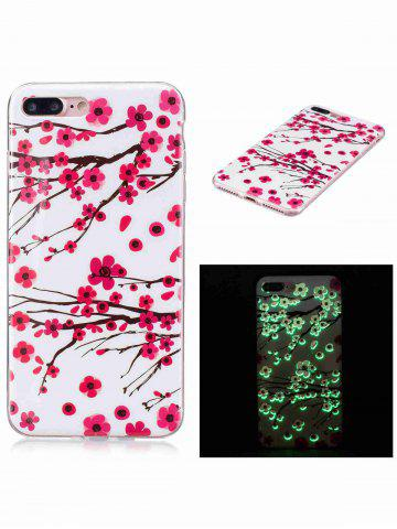 Trendy Soft TPU Plum Blossom Luminous Back Case For iPhone - FOR IPHONE 6 / 6S RED Mobile
