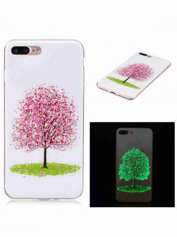Outfits Soft TPU Tree Pattern Noctilucence Phone Cover For iPhone - FOR IPHONE 6 PLUS / 6S PLUS PINK Mobile