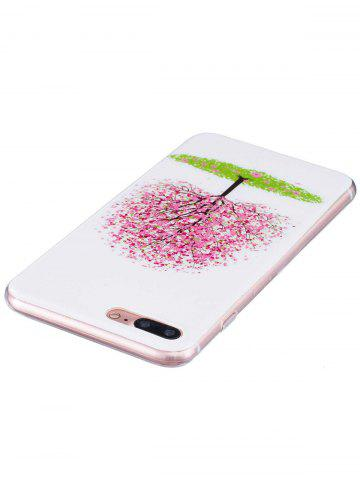 Best Soft TPU Tree Pattern Noctilucence Phone Cover For iPhone - FOR IPHONE 6 PLUS / 6S PLUS PINK Mobile