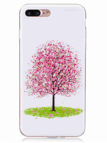 Shop Soft TPU Tree Pattern Noctilucence Phone Cover For iPhone - FOR IPHONE 6 PLUS / 6S PLUS PINK Mobile