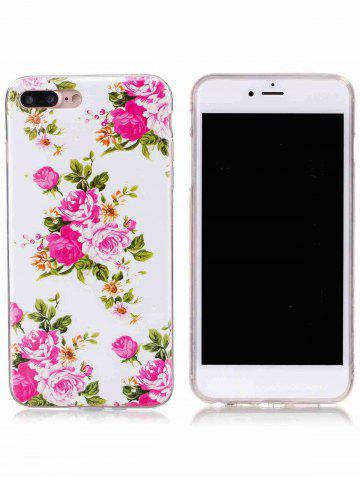Best Flower Pattern Soft TPU Noctilucence Phone Cover For iPhone - FOR IPHONE 6 / 6S COLORMIX Mobile