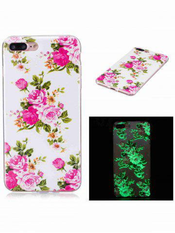 Shop Flower Pattern Soft TPU Noctilucence Phone Cover For iPhone - FOR IPHONE 6 / 6S COLORMIX Mobile