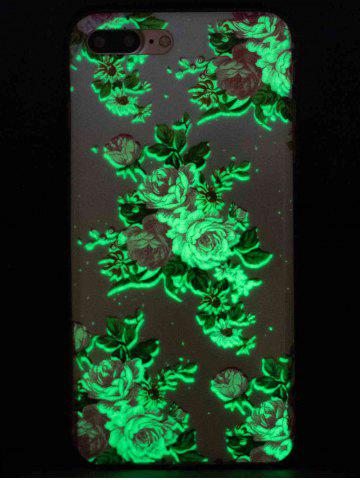 Unique Flower Pattern Soft TPU Noctilucence Phone Cover For iPhone - FOR IPHONE 6 / 6S COLORMIX Mobile