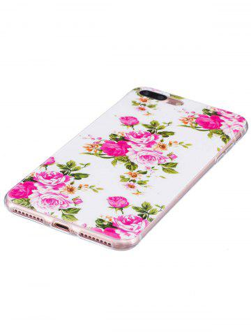 Outfits Flower Pattern Soft TPU Noctilucence Phone Cover For iPhone - FOR IPHONE 6 / 6S COLORMIX Mobile