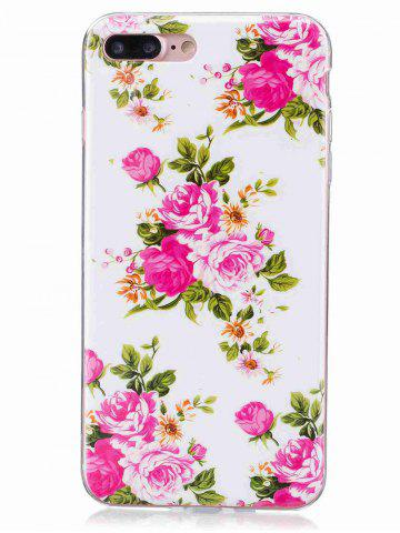 Discount Flower Pattern Soft TPU Noctilucence Phone Cover For iPhone - FOR IPHONE 6 / 6S COLORMIX Mobile