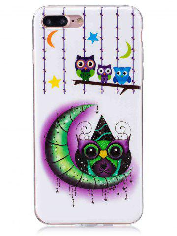 Discount Soft TPU Owl Moon Noctilucence Phone Cover For iPhone - FOR IPHONE 7 PLUS WHITE Mobile