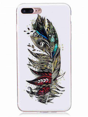 New Soft TPU Feather Pattern Noctilucence Phone Cover For iPhone - FOR IPHONE 6 PLUS / 6S PLUS COLORMIX Mobile