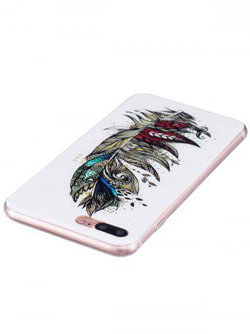 Shop Soft TPU Feather Pattern Noctilucence Phone Cover For iPhone - FOR IPHONE 6 PLUS / 6S PLUS COLORMIX Mobile