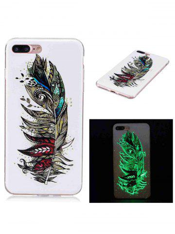 Chic Soft TPU Feather Pattern Noctilucence Phone Cover For iPhone - FOR IPHONE 6 PLUS / 6S PLUS COLORMIX Mobile