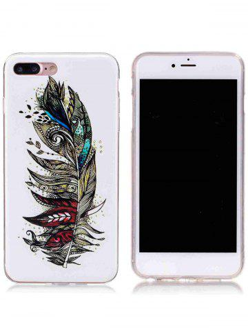 Affordable Soft TPU Feather Pattern Noctilucence Phone Cover For iPhone - FOR IPHONE 6 PLUS / 6S PLUS COLORMIX Mobile