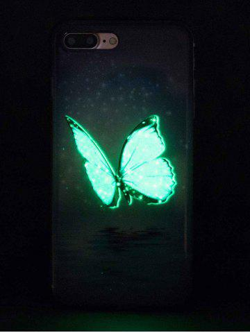 Fancy Butterfly Pattern Noctilucence Phone Cover For iPhone - FOR IPHONE 7 AZURE Mobile