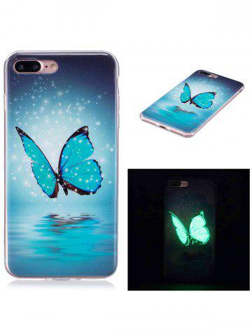 Fancy Butterfly Pattern Noctilucence Phone Cover For iPhone - FOR IPHONE 7 PLUS AZURE Mobile
