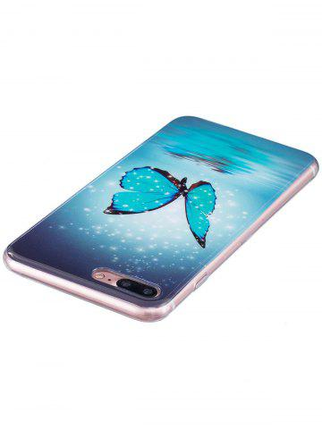 Latest Butterfly Pattern Noctilucence Phone Cover For iPhone - FOR IPHONE 7 PLUS AZURE Mobile