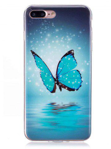 Outfit Butterfly Pattern Noctilucence Phone Cover For iPhone - FOR IPHONE 7 PLUS AZURE Mobile