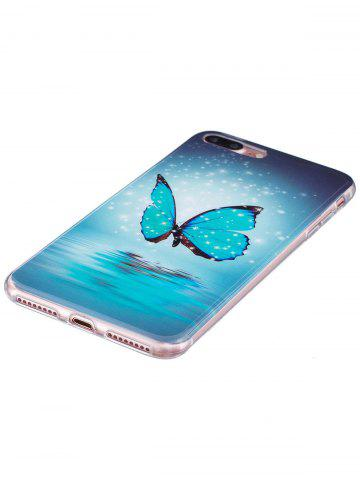 Chic Butterfly Pattern Noctilucence Phone Cover For iPhone - FOR IPHONE 7 PLUS AZURE Mobile