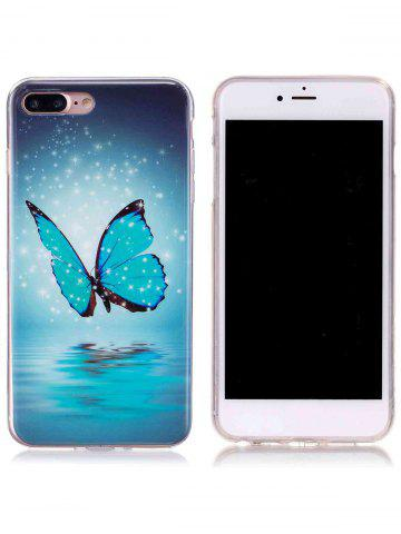 Shops Butterfly Pattern Noctilucence Phone Cover For iPhone - FOR IPHONE 7 PLUS AZURE Mobile