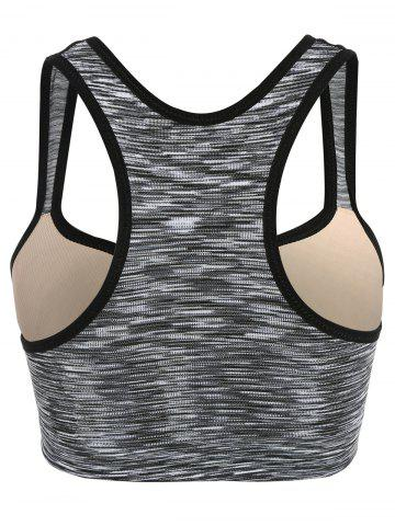 Hot Low Impact Heathered Sports Bra - L GRAY Mobile