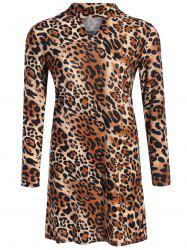 Keyhole Cheetah Print Dress