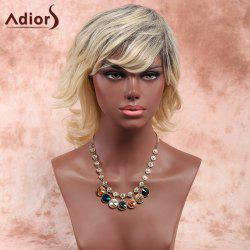 Adiors Layered Medium Side Bang Fluffy Curly Synthetic Wig
