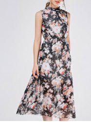 Bohemian Floral Chiffon Swing Beach Dress
