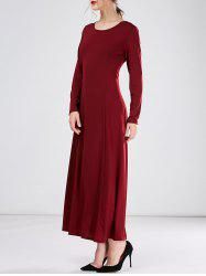 Long Maxi A Line Formal Dress with Sleeves
