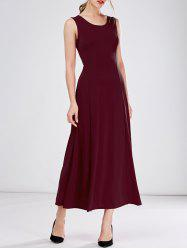Sleeveless Tea LengthLong A Line Formal Dress