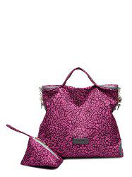 Printed Nylon Handbag With Coin Purse