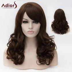 Adiors Long Oblique Bang Fluffy Wavy Colormix Synthetic Wig