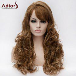 Adiors Long Inclined Bang Layered Wavy Highlight Synthetic Wig