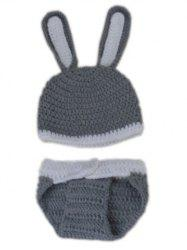 Rabbit Design Photography Clothes Knitted Baby Boy Blankets