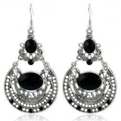 Ethnic Hollow Out Statement Drop Earrings -