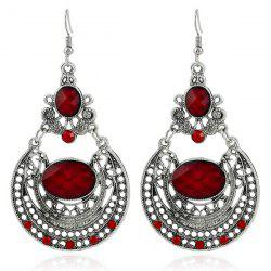 Ethnic Hollow Out Statement Drop Earrings