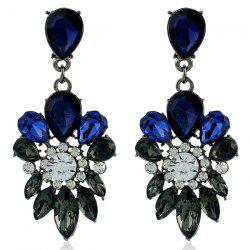 Rhinestone Faux Gem Water Drop Earrings