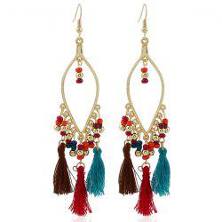 Bohemia Beads Tassel Statement Drop Earrings