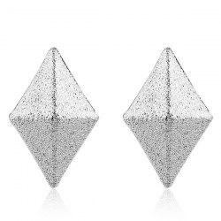 Rhombus Dull Polish Stud Earrings