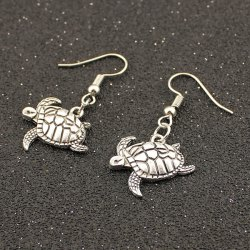 Carved Tortoise Drop Earrings