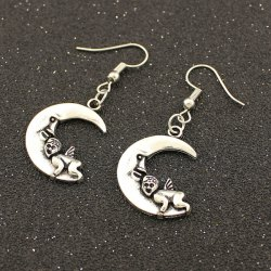 Moon Angel Drop Earrings