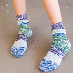 Color Block Design Knitted Socks