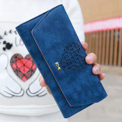 Heart Cutout Clutch Trifold Wallet