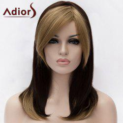 Adiors Medium Double Color Side Bang Straight Synthetic Wig