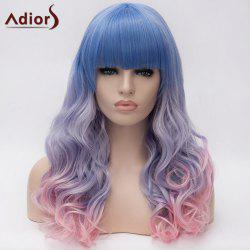 Adiors Long Full Bang Colormix Shaggy Wavy Synthetic Wig